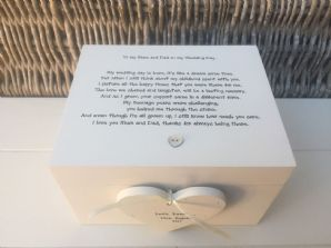 Shabby Personalised Chic Mother & Father Of The Bride Wedding Gift Keepsake Box - 232211398509